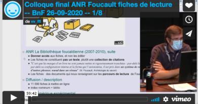 Vidéos du colloque final FFL — BnF, 26 septembre 2020